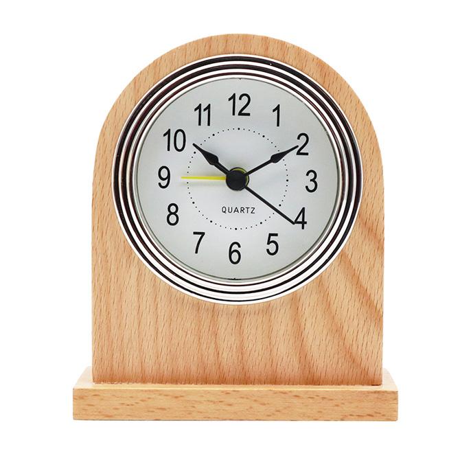 台式石英闹钟木框闹钟