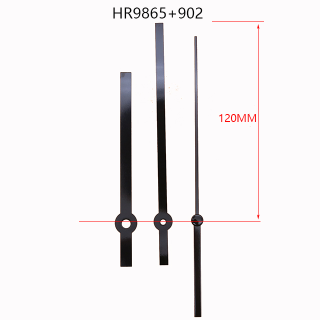 长度120mmHR9865石英钟金属钟针配902秒针