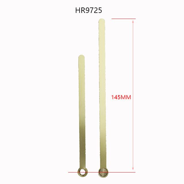 长度145mmHR9725高光铜质石英钟针分针孔加分秒头