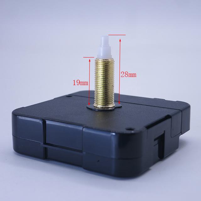 轴长28mm工艺品钟用石英钟机芯